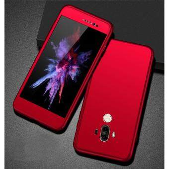 Harga 360 Degree Full Body Protection Cover Case With Tempered Glass for Huawei Mate 9 (Red)