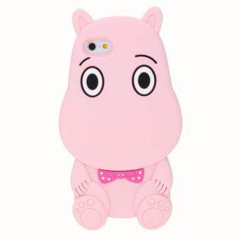 Harga Whyus-High Quality 3D Fuunny Logy Cartoon Hippo Soft Silicone Shell Case Cover Skin for iPhone 5 5s SE Pink