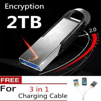 Harga 2TB Best Sellers new usb flash drive pen drive pendrive waterproof metal silver u disk memory disk usb 2.0