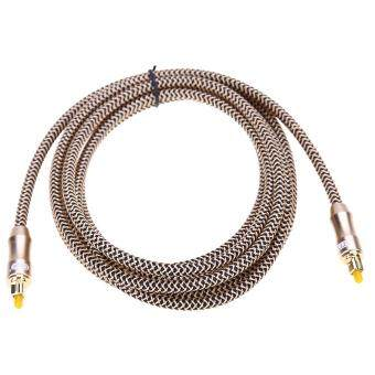 Harga OD6.0 Toslink Cable Digital Optical Audio Cable Fiber Optic Cable Gold Snak (2M)