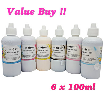 Harga Cuyi Original German Pigment Ink (C,M,Y,K,LC,LM) 6 Colour For Epson Inkjet Printer.