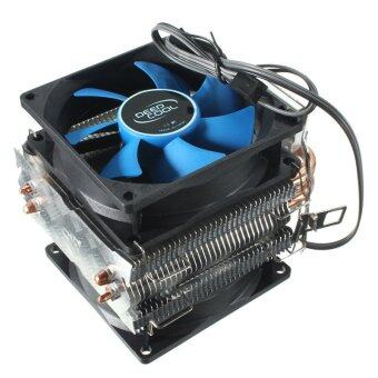 Harga Dual Fan CPU MIni Cooler Heatsink for Intel LGA775/1156/1155 AMD AM2/AM2+/AM3 (Blue/Black)