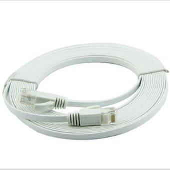 Harga 20M Ultra-Thin Flat Cable Patch Network Internet Cable (White)