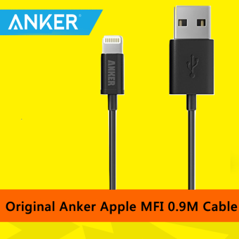 Harga [Apple MFi Certified] Anker Apple Lightning Cable - 0.9M (White)