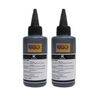 Harga Universal Refill Dye Ink Black 100ml x 2 For Brother / Canon / Epson / HP (Value Pack)