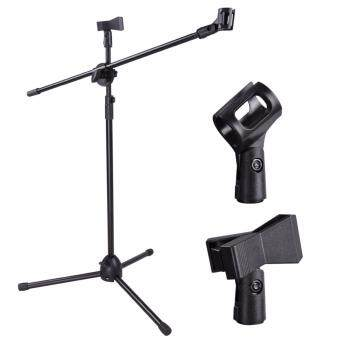 Harga High Quality Microphone Stage Floor Stand MS-01 (Adjustable) with TWO holder clips