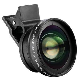 Harga Universal Camera Lens 0.45x Super Wide Angle Lens + 12.5x Super Macro Lens for All Mobile