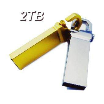 Harga USB Flash Drive Memory USB2.0/3.0 Flash Disk Waterproof Pen Drive (Capacity:2TB Color:Gold,Silver)