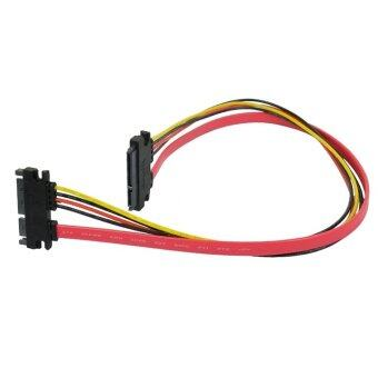 Harga Jo.In 5 Pcs 22P 7+15Pin Male to Female Serial ATA SATA Data Power Combo Extension Cable M F