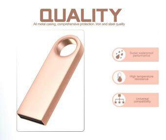 Harga Newest pendrive 2TB pen drive usb flash drive mini key Metal Water Proof Quick Stick USB Flash Drive -Rose