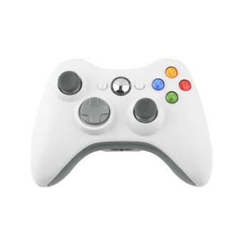 Harga OH Not Specified Wireless Shock Game Controller For Microsoft xBox 360 xBox360 white New HOT (White)