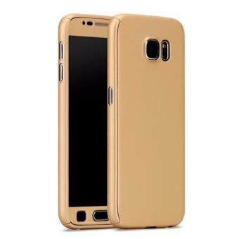Harga 360 Degree Full Body Protection Cover Case With Tempered Glass for Samsung Galaxy Note 5 (Gold)