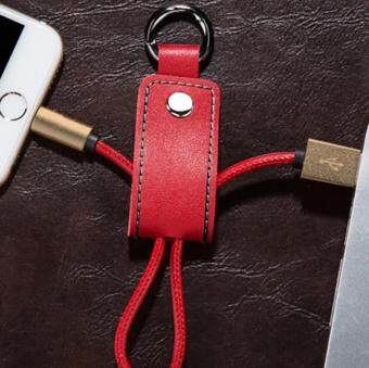Harga Leather Keychain mobile phone data line for iPhone mobile phone charging data cable