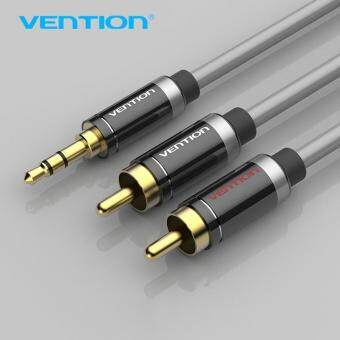 Harga Vention 3.5mm Jack Male to Male 2RCA Audio Cable Alumium Shell Double Shield Aux Cable