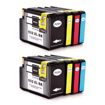 Harga Jiaing Compatible for HP 932 xl & 933 xl Ink Cartridge (2Black 2Cyan 2Meganta 2Yellow) Work with HP Officejet 6100, HP Officejet 6600, HP Officejet 6700, HP Officejet 7110, HP Officejet 7610