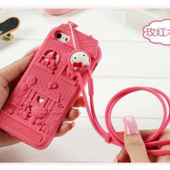 Harga Fabitoo Kitty lucky Fashion Personality creativity Case cover for Apple iPhone 5 / 5s(Rose Red)