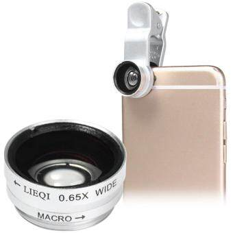 Harga LIEQI LQ - 65X Multi-coating Glass 2-in-1 Macro 0.65X Wide Angle Lens for Smartphones iPhone 6 Plus iPad Air Samsung Galaxy S6 Edge Notebook PC etc.