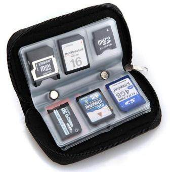 Harga Memory Card Storage Carrying Pouch Case Holder Wallet For CF/SD/SDHC/MS/DS