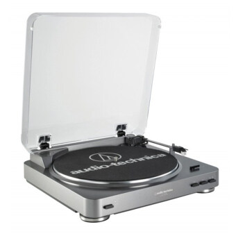Harga Audio-Technica AT-LP60-USB Fully Automatic Belt-Drive Stereo Turntable (USB & Analog) - GunMetal