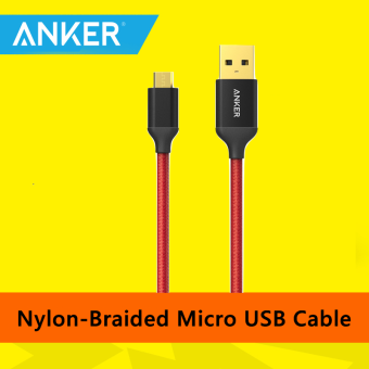 Harga Original Anker Nylon-Braided Micro USB Cable (Red)