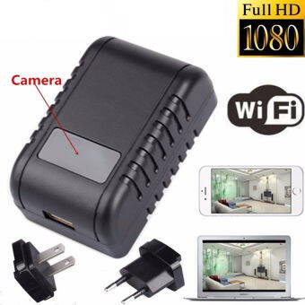 Harga KSRplayer@Mini 1080P WIFI HD SPY DVR Hidden Camera AC Plug NightVision Video Recorder Cam EU/US Model