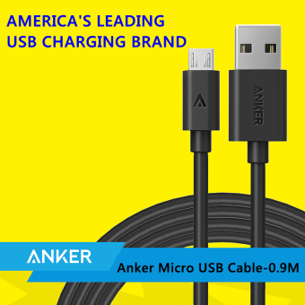 Harga Anker Micro USB Cable Fast Charge For Samsung Huawei Xiaomi-0.9M (White)