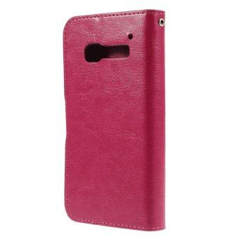 Harga Leather Crazy Horse Flip Stand Cover for Alcatel One Touch Pop C5 OT-5036A OT-5036D OT-5036X (Rose)