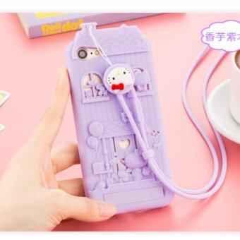 Harga Fabitoo Kitty lucky Fashion Personality creativity Case cover for Apple Apple iPhone 7 Plus(Purple)