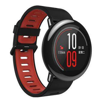 Harga xiaomi AMAZFIT HUAMI GPS Sports Watch with Ceramic Bezel - Black + Red