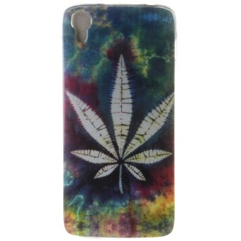 Harga Ultra Thin Soft TPU Phone Back Case Cover For Alcatel One Touch Idol 3 4.7 inch (Maple Leaf)
