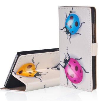 "Harga RUILEAN TPU Flip Leather Cover for Alcatel One Touch Pixi 4 5.0"" (Multicolor)"