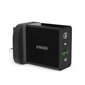 Harga ANKER POWERPORT+1 WITH QUICK CHARGE 3.0-BLACK