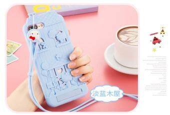 Harga For Apple iPhone 7 Plus 3D Cute Cartoon Fabitoo Hello Kitty Phone Case Soft Silicone Back Cover With Lanyard