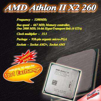 Harga AMD Athlon II X2 260 2core 3.2 ghz AM3 CPU / Processor (Refurbished)