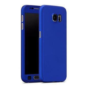 Harga 360 Degree Full Body Protection Cover Case With Tempered Glass for Samsung Galaxy Note 5 (Blue)