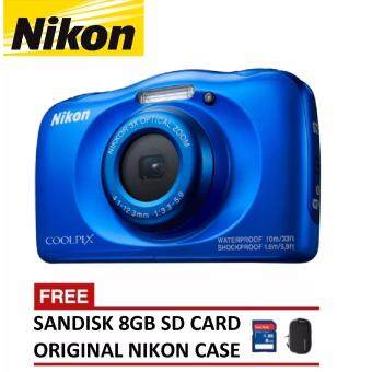 Harga Nikon CoolPix W100 Digital Camera - Blue (Nikon Malaysia Warranty)