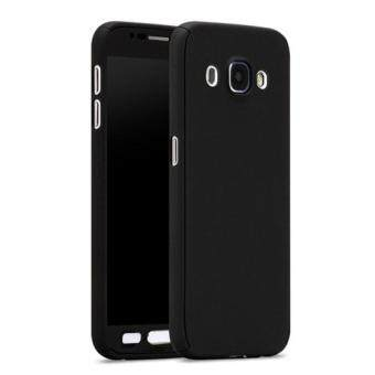 Harga 360 Degree Full Body Protection Cover Case With Tempered Glass for Samsung Galaxy J5 (Black)