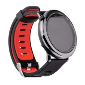 Harga 4Connect Xiaomi Huami AMAZFIT A1602 Sports Silicone Replacement Bracelet Strap Band - Black Red