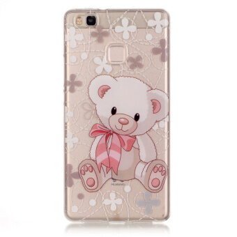 Harga IMD Back Cover Clear TPU Cover for Huawei P9 Lite / G9 Lite - Adorable Bear