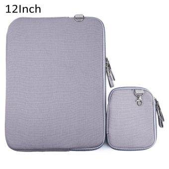 Harga 12 Inch Denim Canvas Notebook Sleeve Case Laptop Bag Pouch Cover for Macbook Air Pro