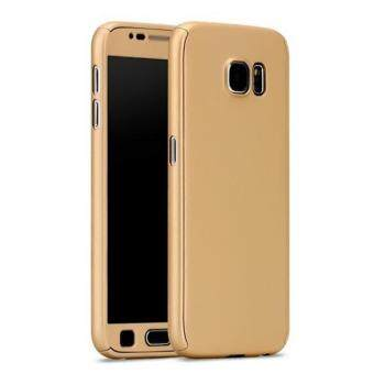 Harga 360 Degree Full Body Protection Cover Case With Tempered Glass for Samsung Galaxy A7 2016 (Gold)