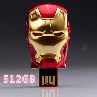 Harga Usb Flash Drive Pend Drive Iron Man U disk Memory Stick 512GB Pendrive Flash (Gold)