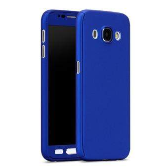 Harga 360 Degree Full Body Protection Cover Case With Tempered Glass for Samsung Galaxy J5 2016 (Blue)