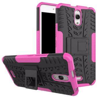 Harga Hard Plastic + TPU Hybrid Armor Bracket Impact Holster Cover Case For Alcatel One Touch Pixi 4 6.0 OT-8050D (Pink)