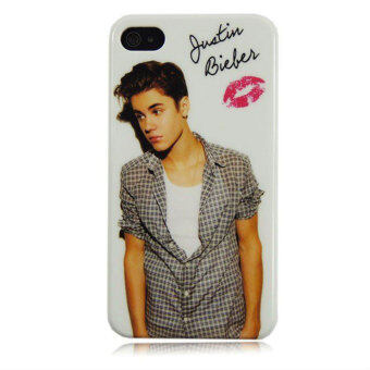 Harga Leegoal Justin Bieber With Lip Snap on Hard Case Cover for IPhone 5/5S