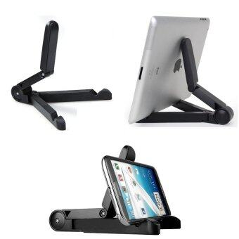 Harga Universal Portable Foldable Smartphone Tablet Stand Holder Black Color