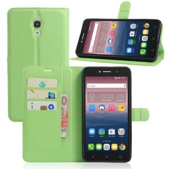 Harga PU Leather Wallet Case Cover For Alcatel One Touch Pixi 4 (6) 6.0 Inch 3G Version (Green)
