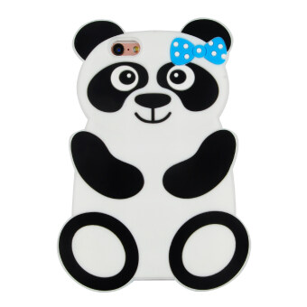 Harga 3D Cartoon Panda Soft Silicone Gel Back Case Cover For iPhone 6/6s