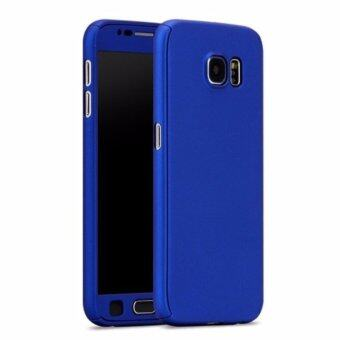 Harga 360 Degree Full Body Protection Cover Case With Tempered Glass for Samsung Galaxy A7 2017 (Blue)