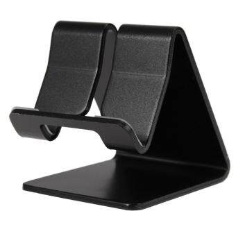 Harga Mobiles Tablets Car Mounts Mini Aluminum Cell Phone Desk Table Desktop Stand Holder For Tablet Iphone (Black)